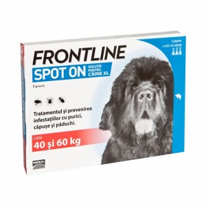 Frontline Spot On XL (40-60 kg) - 3 Pipete Antiparazitare