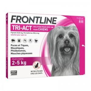 Frontline Tri-Act (2-5 kg) - 3 Pipete Antiparazitare