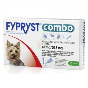 Fypryst Combo Dog S 67 mg x 3 pip