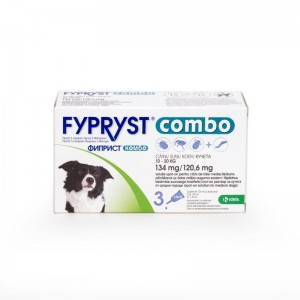 Fypryst Combo Dog M 134 mg (10 - 20 kg), 3 pipete