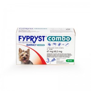 Fypryst Combo Dog S 67 mg (2 - 10 kg), 3 pipete