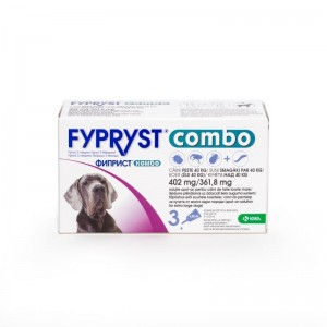 Fypryst Combo Dog XL 402 mg (40 - 60 kg), 3 pipete