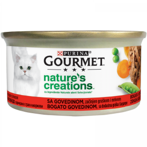 Gourmet Nature's Creations, File Vita si Mazare, 85 g