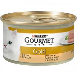Gourmet Gold Mousse cu Curcan, 85 g