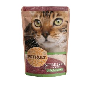 Hrana umeda pisici Petkult Sterilizat cu Rata, 100 g