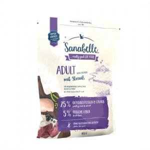 Hrana uscata pisici, Sanabelle Adult cu strut, 400 g