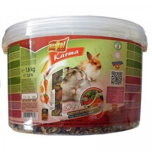 Hrana cu fructe si legume pentru hamsteri si iepuri Vitalpol, 1.6 kg
