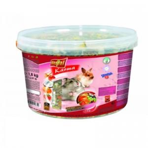 Hrana cu fructe si legume pentru hamsteri si iepuri Vitalpol, 1.8 kg