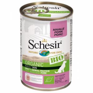 Hrana umeda pentru caini, Schesir Bio Porc, 400 g
