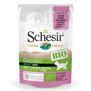 Hrana umeda pentru caini, Schesir Bio Porc, 85 g