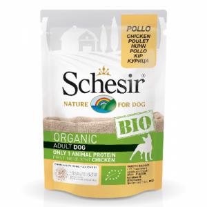 Hrana umeda pentru caini, Schesir Bio Pui, 85 g