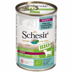 Hrana umeda pentru caini, Schesir Bio Puppy, 400 g