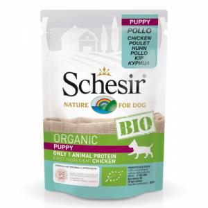Hrana umeda pentru caini, Schesir Bio Puppy, 85 g