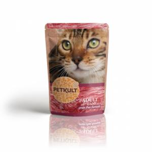 Hrana umeda pisici, Petkult cu vanat, 100 g