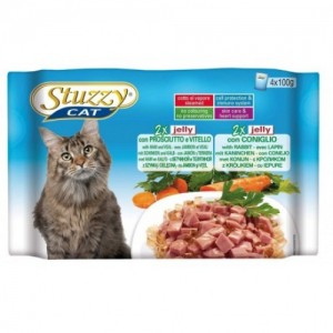 Hrana umeda pisici, Stuzzy sunca, vitel si iepure, 4 x 100 g