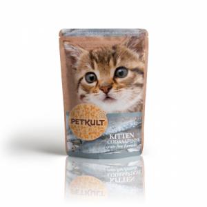 Hrana umeda pisici junioare Petkult cu cod si sardine, 100 g