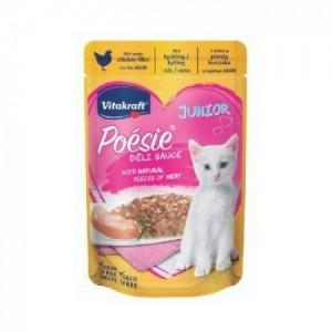 Hrana umeda pisici, Vitakraft Plic Poesie Junior, Pui in Sos, 85 g
