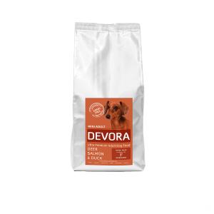Devora Grain Free Mini Adult, Caprioara, Somon si rata, 7.5 kg