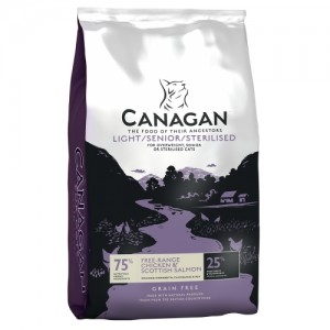 Canagan Grain Free for Cats, Light Senior Sterilised, Pui, 375 g