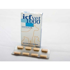 ICFVET 1000 mg 8 tablete antibiotic pentru caini