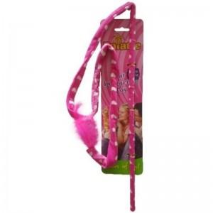 Jucarie Paiatze Cat Bici, roz, 47 cm