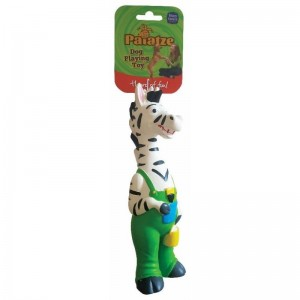 Jucarie Paiatze Dog Funny Zebra Latex, 25 cm