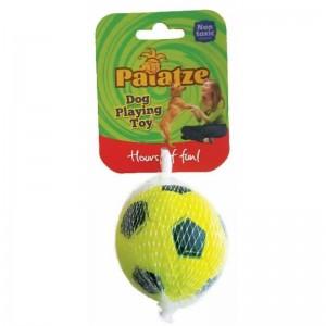 Jucarie Paiatze Dog Minge Neon cauciuc, galbena, 6.3 cm