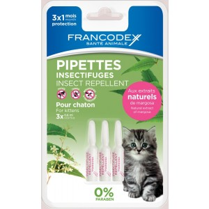 Francodex Pipeta Antiparazitara Kitten 0.6ml x3buc/blister