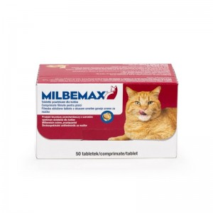 Milbemax Cat 16 / 40 mg (2 - 8 kg), 50 tablete