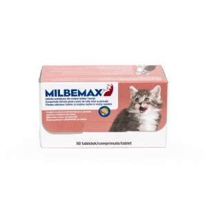 Milbemax Cat 4 / 10 mg (< 2 kg), 50 tablete