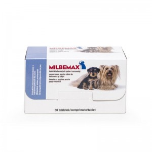 Milbemax Dog 2.5 / 25 mg (< 5 kg), 50 tablete