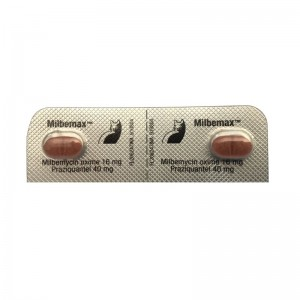 Milbemax Cat 16 / 40 mg (2 - 8 kg), 2 tablete