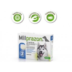 Milprazon Caine (5-25 kg) X 2 Tablete