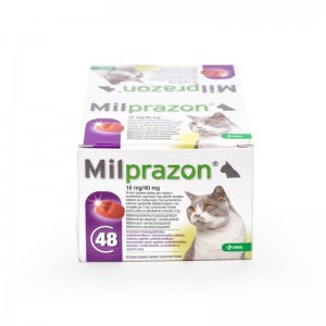 Milprazon Cat 16  40 mg (2 - 8 kg), 48 tablete