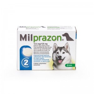 Milprazon Dog 12.5  125 mg ( 5 kg), 2 tablete