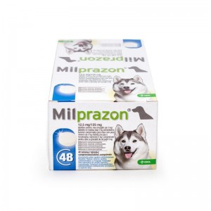 Milprazon Dog 12.5  125 mg ( 5 kg), 48 tablete