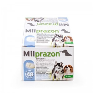 Milprazon Dog 2.5  25 mg ( 5 kg), 48 tablete