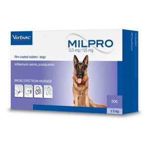 Milpro 12/125mg Dog, 4 tablete