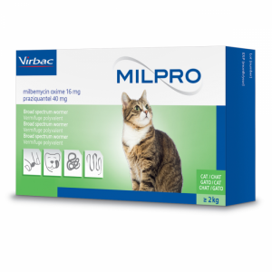 Milpro 16/40mg Cat, 4 tablete