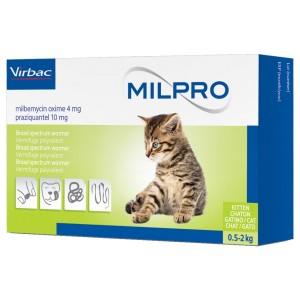 Milpro 4/10mg Kitten, 4 tablete