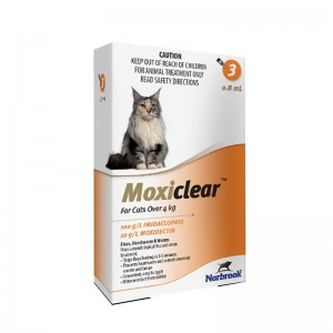Moxiclear Cat L 0.8 ml (4-8 KG) x 3 pipete (portocaliu)