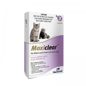 Moxiclear Cat S 0.4 ml (0-4 KG) x 3 pipete (mov)