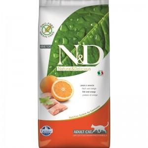 N&D Cat Grain free Fish and Orange, 5 kg