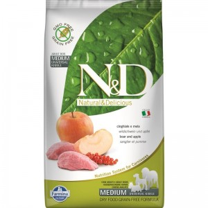 N&D Dog Grain free Boar and Apple Adult Medium, 2.5 kg