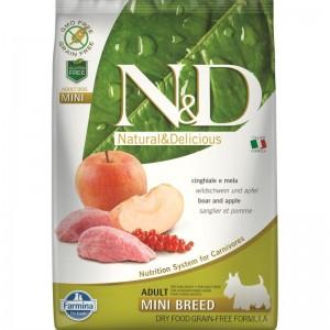 N&D Dog Grain free Boar and Apple Adult Mini, 7 kg