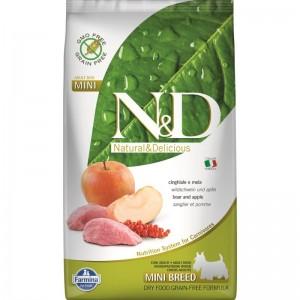 N&D Dog Grain free Boar and Apple Adult Mini, 2.5 kg