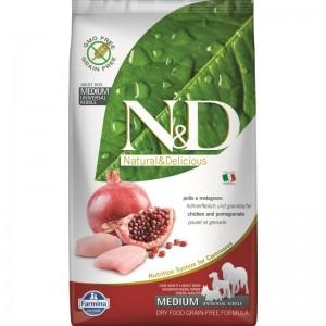 N&D Dog Grain free Chicken and Pomegranate Adult Medium, 2.5 kg