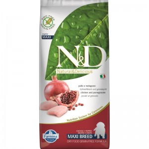 N&D Dog Grain free Chicken and Pomegranate Puppy Maxi, 12 kg