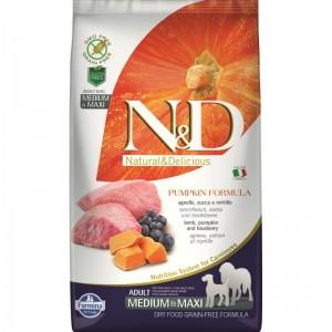N&D Dog Grain free Pumpkin Lamb and Blueberry Adult Medium Maxi, 2.5 kg