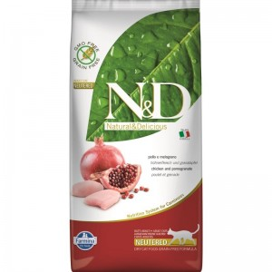 N&D Grain free Cat Chicken and Pomegranate Neutered, 5 kg